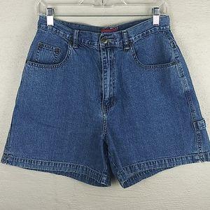 Westport Denim Blue High Rise Five Pocket Shorts